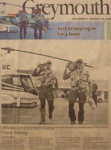 Einfach mal schnell Bier mit dem Helikopter geholt...